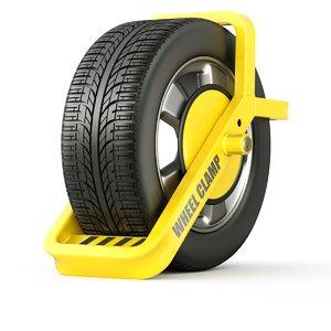 3D clamp wheel model