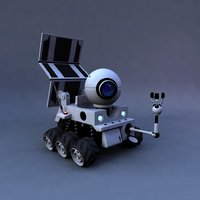 rigged planet 51 rover 3D model