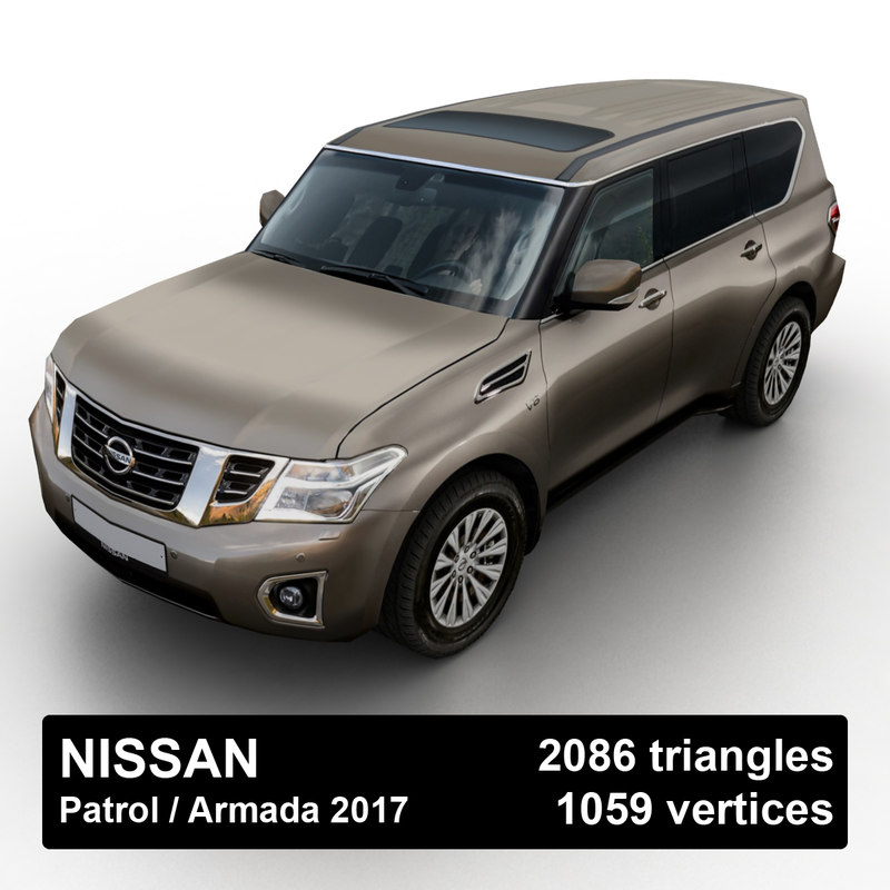 3D 2017 nissan patrol armada model