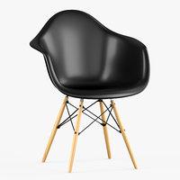 3D daw plastic chair vitra eames