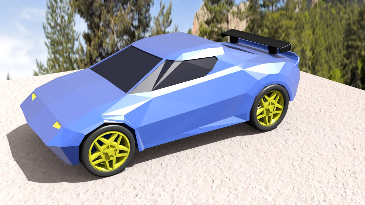 3D race car model