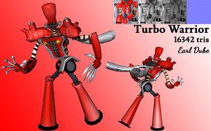 turbo warrior 3D