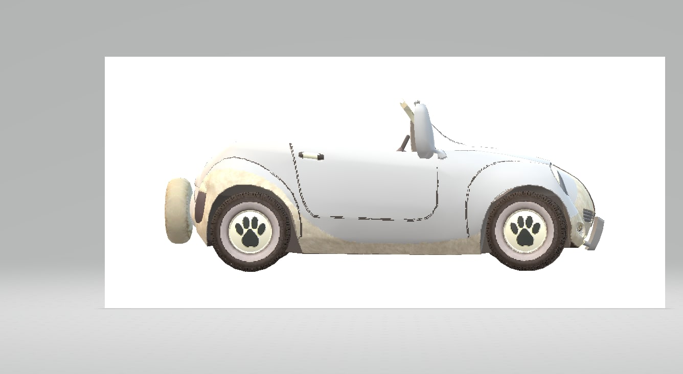 duet solid white 3D model