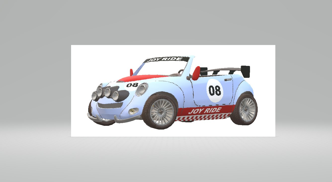 joy rally white 3D model