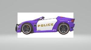 3D model shift cop car