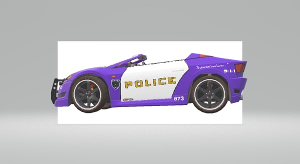 3D model shift cop car