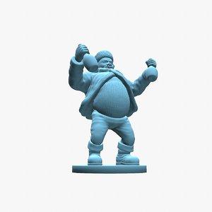 santa claus print 3D