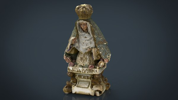 Virgin Mary Statue 3D Models for Download | TurboSquid