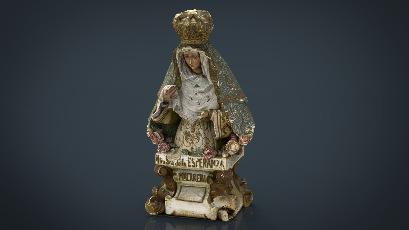 virgen la macarena 3D model