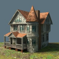 3D old mansion