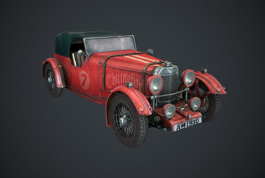 3D retro car model