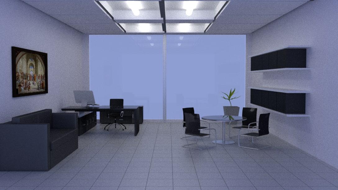 realistic office model