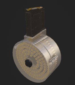 3D ar15 50 drum