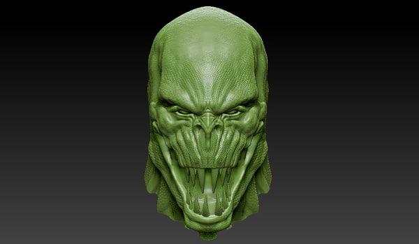 killer croc 3D model