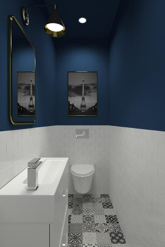 powder room 3D model