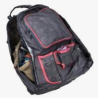 3D worn tool backpack model