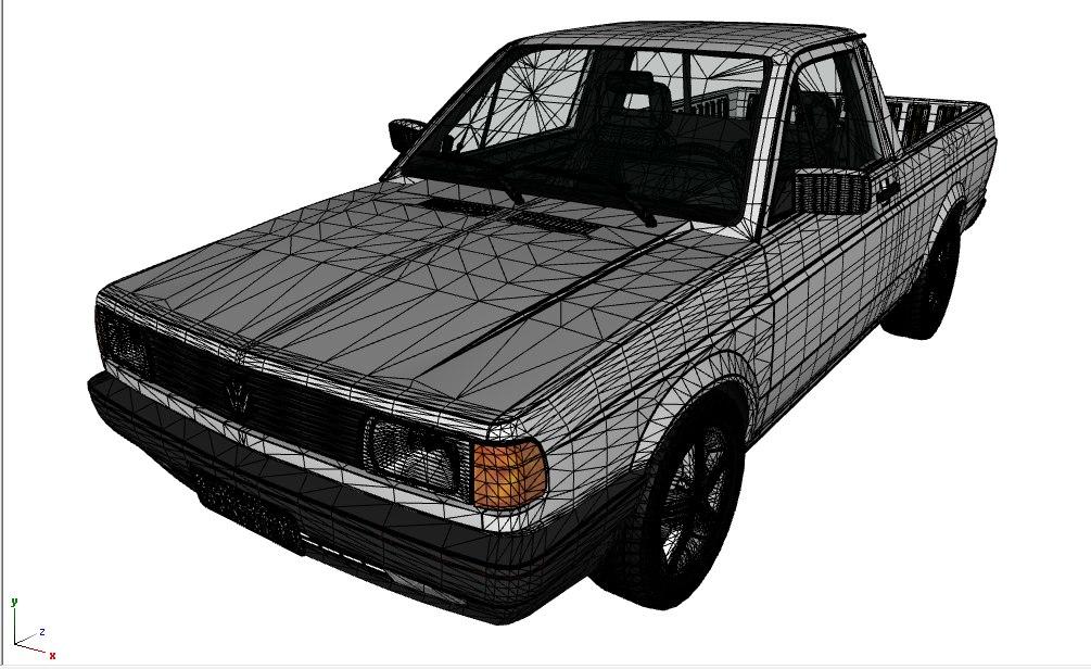 3D volkswagen saveiro model