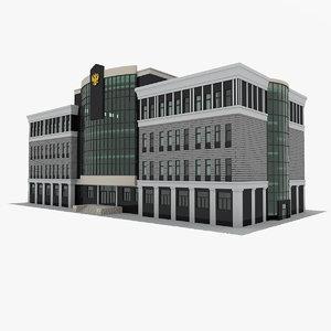 court house 3D model
