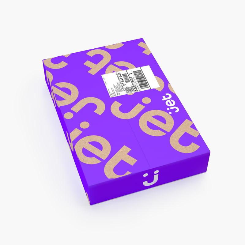 3D parcel 006 model