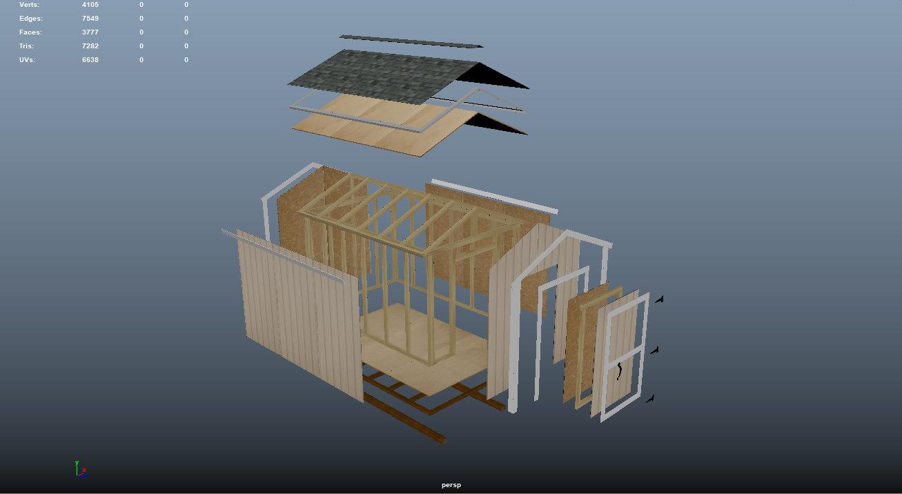 garden shed model