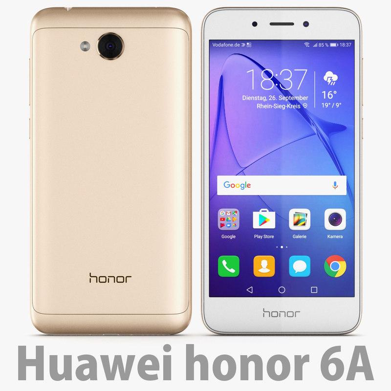 3D honor 6a gold model