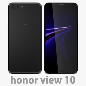 3D model 10 honor black