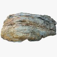 limestone boulder 3 3D