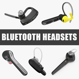 bluetooth headsets 3D model