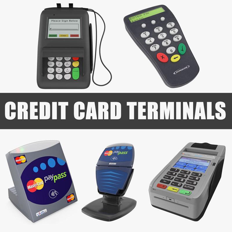 3D credit card terminals
