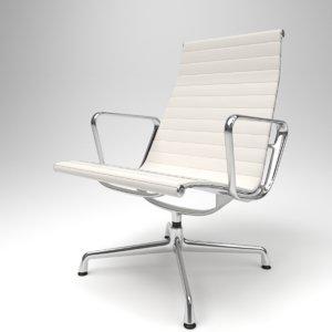interior vitra aluminium chairs 3D