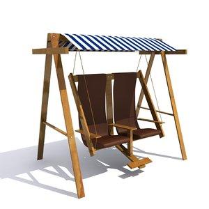outdoor double swings 3D model