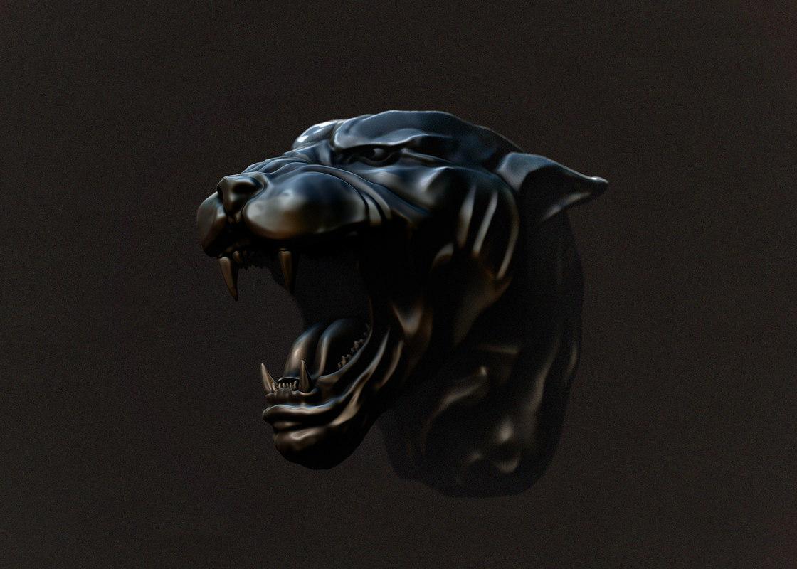 tiger print cnc 3D model