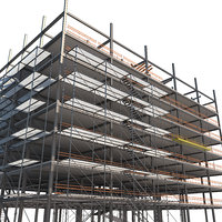 3D steel construction modular model