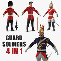 Guard Soldiers 3D Models Collection