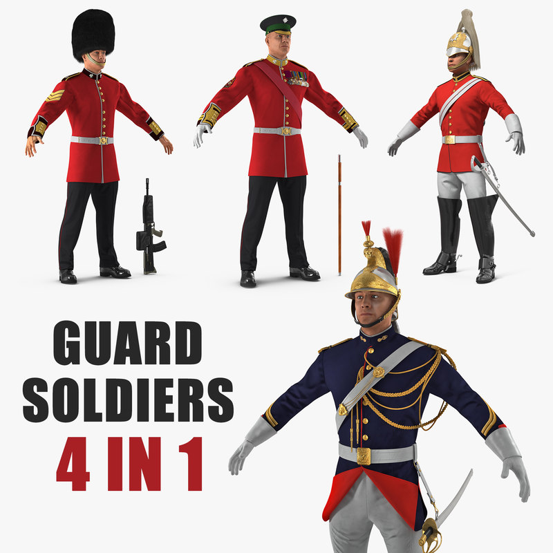3D guard soldiers model
