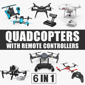 quadcopters remote controllers quad 3D model
