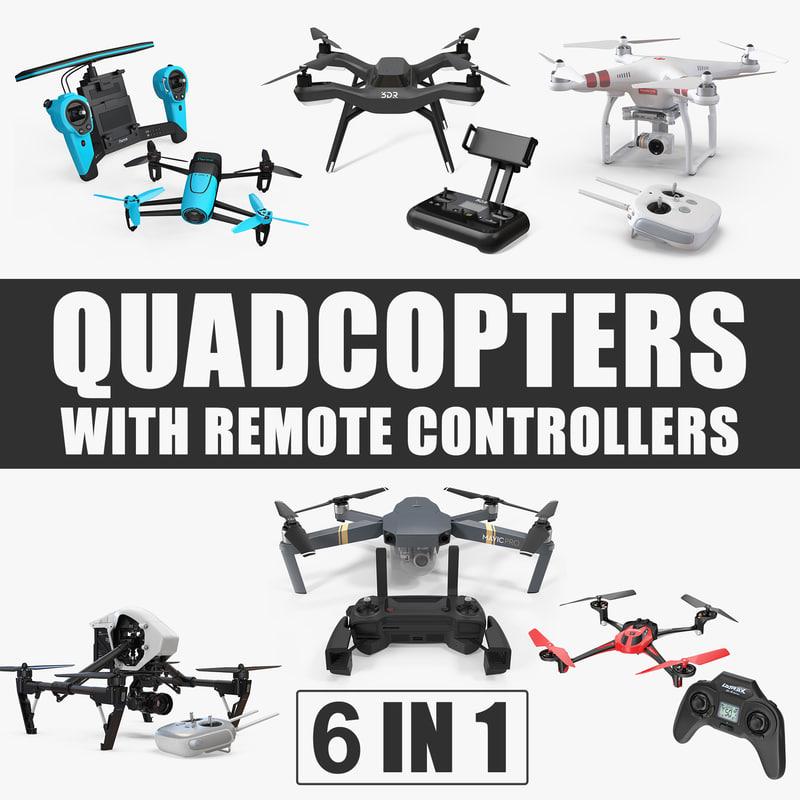 quadcopters remote controllers quad 3D model