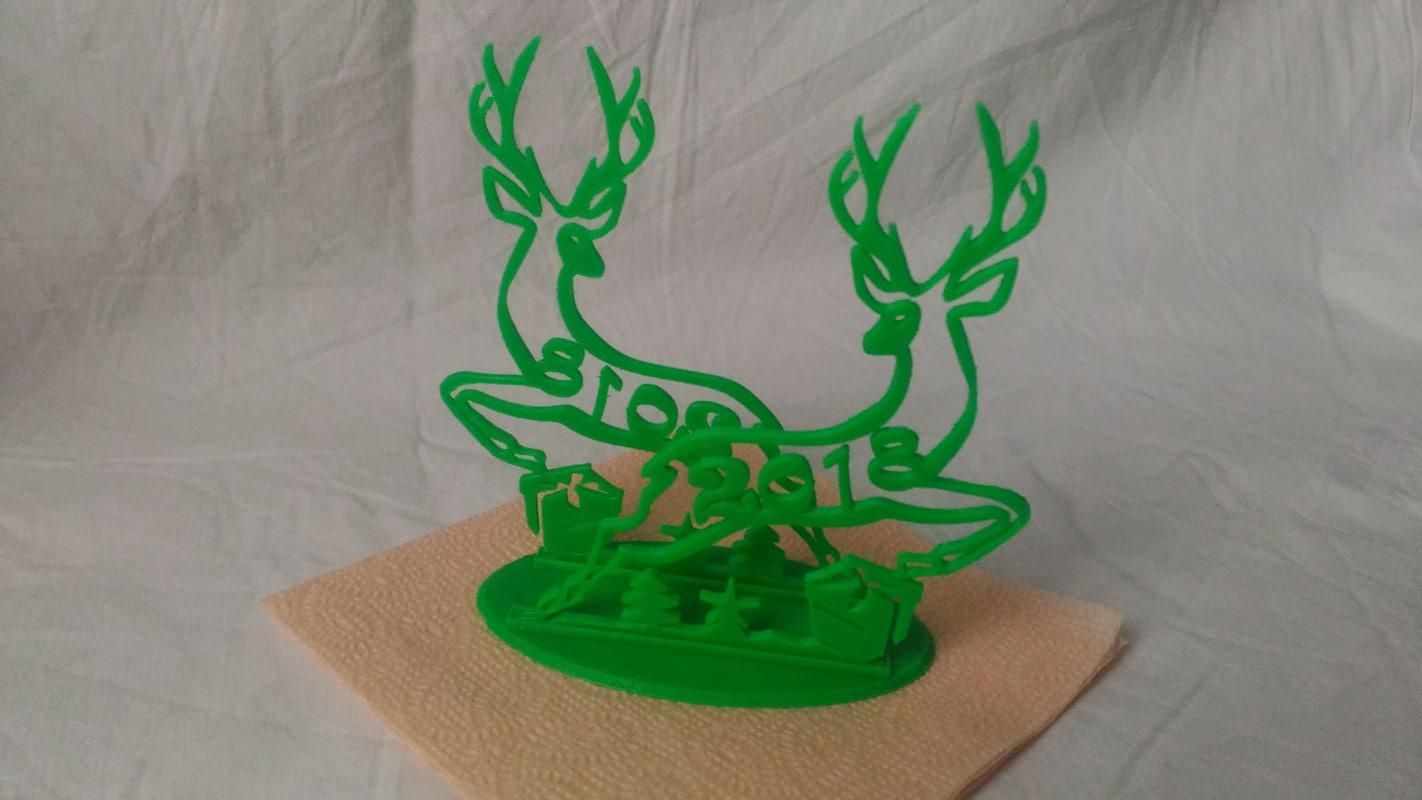 3D model napkin holder christmas deer