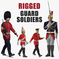 Rigged Guard Soldiers Collection