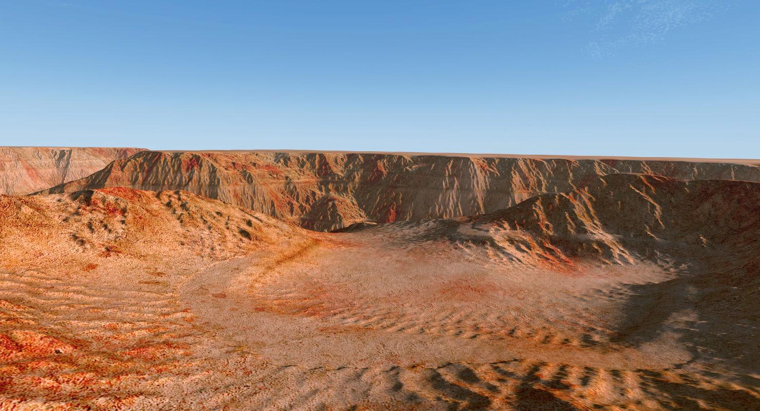 3D arizona canyons terrain modelled