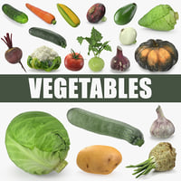 Vegetables 3D Models Collection