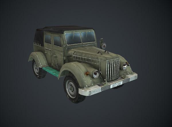 3D car military