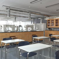 School Laboratory Interior