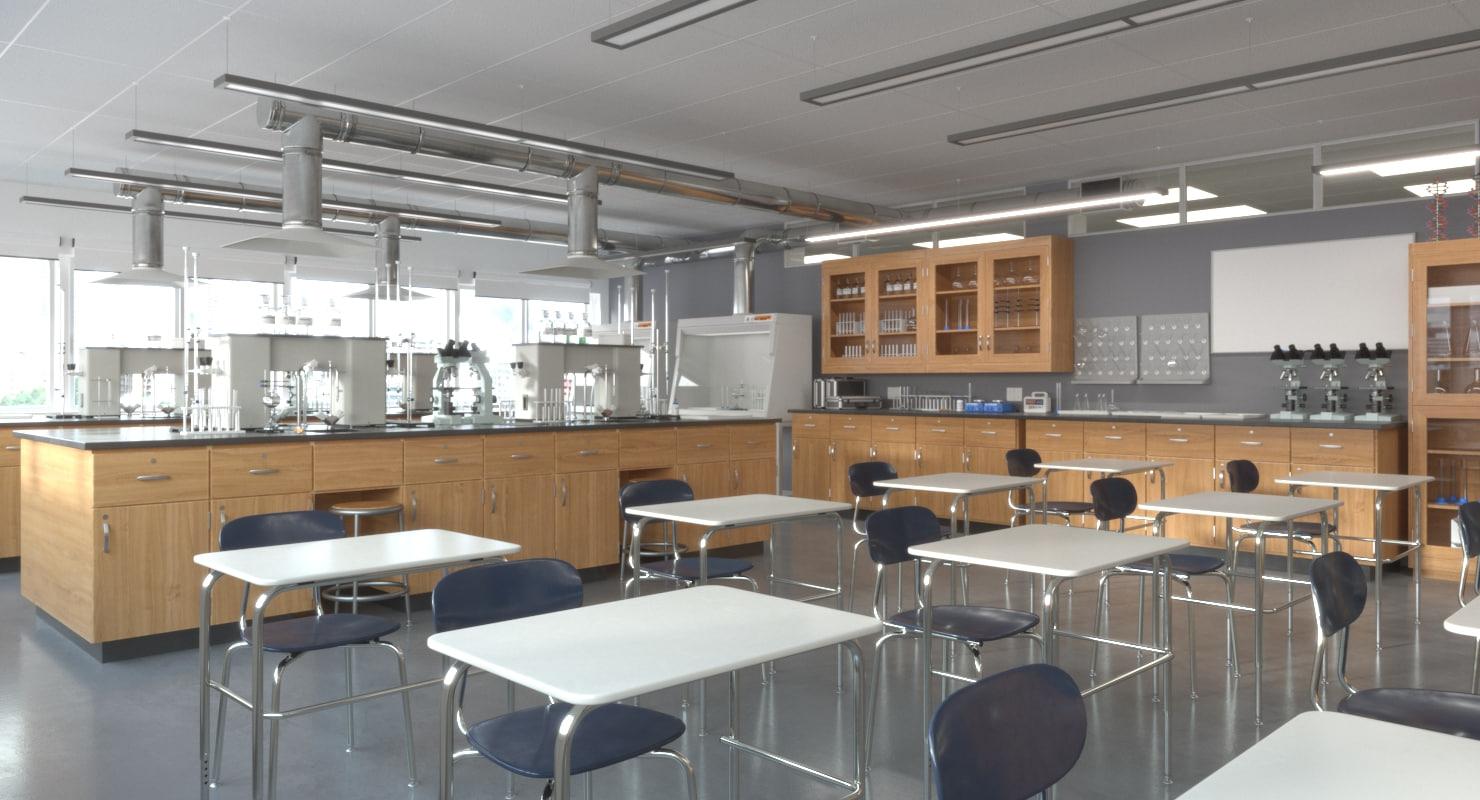 3D classroom laboratory model