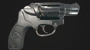 3D revolver bodyguard 38 model