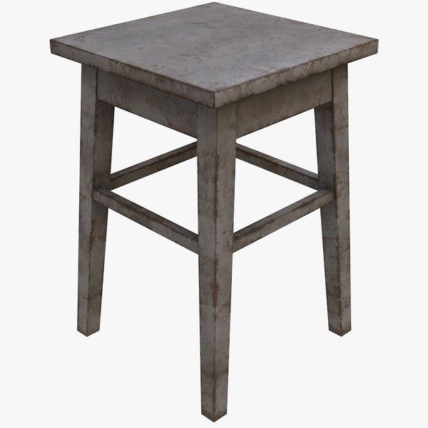 old stool 3D model