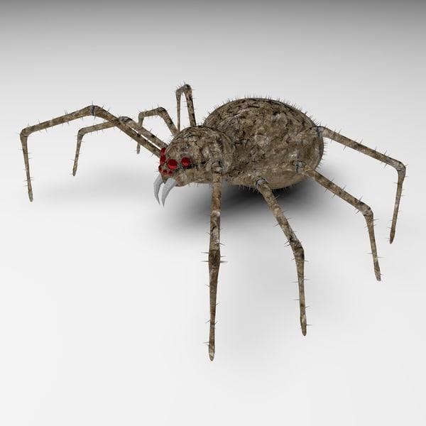 3D spider skeleton model