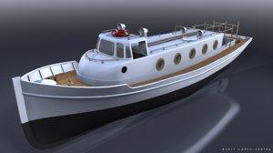 3D motorboat italian