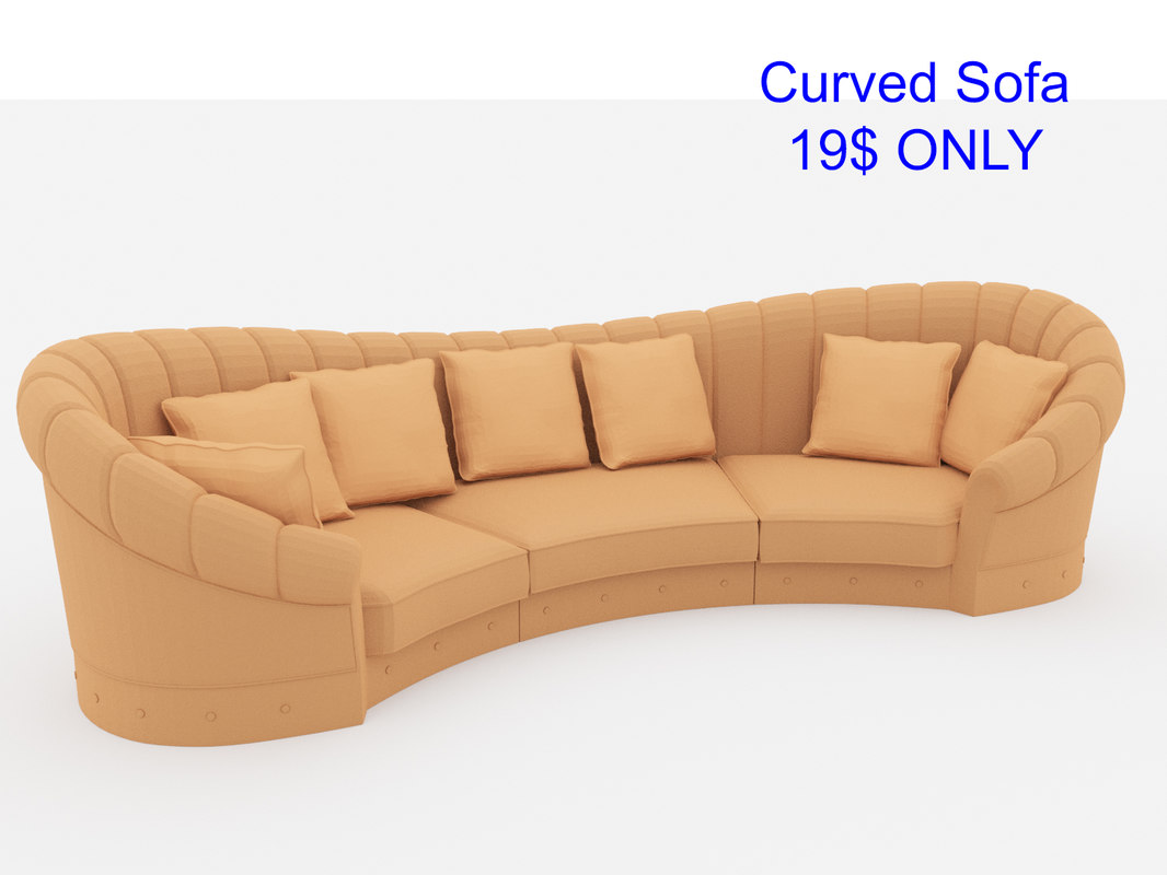 3D curved sofa model