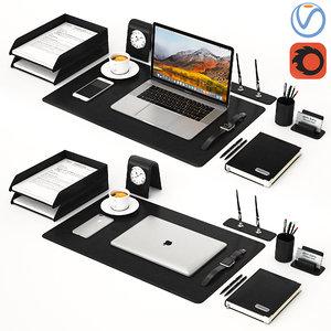 3D desktop macbook model